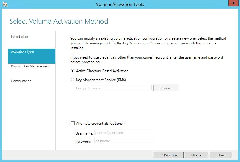 Configure KMS server for MS fice 2016 Volume Activation