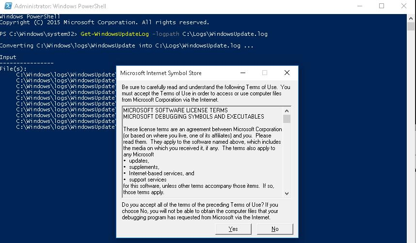 Powershell Get-WindowsUpdateLog