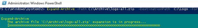 Expand-Archive powershell cmdlet