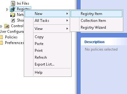 gpp new registry item