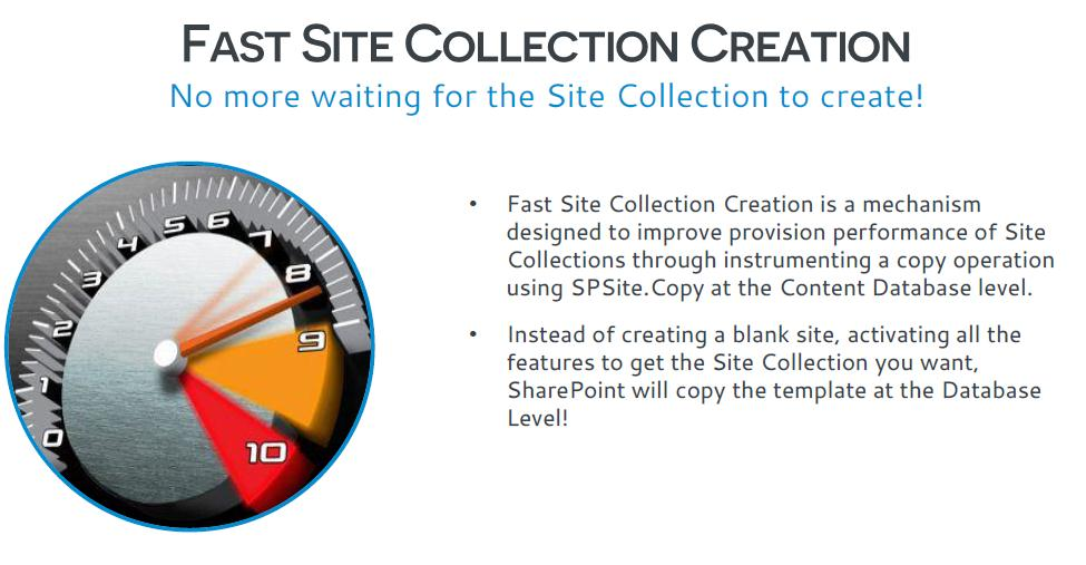 fast sitecollection creation