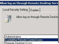 Allow log on through Remote Desktop Services policy