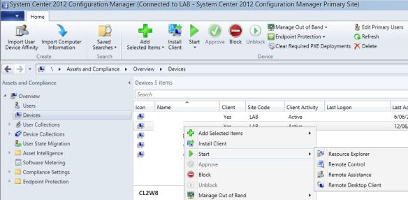 Start Remote Control in SCCM