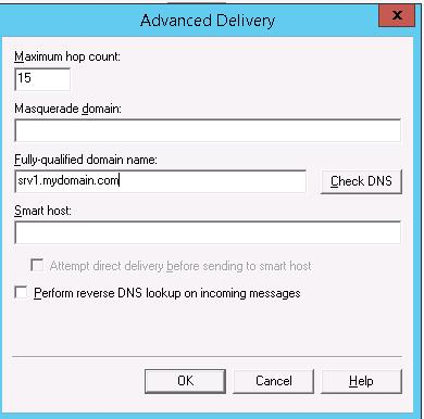 Advanced delivery options
