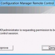 approve sccm remote control session