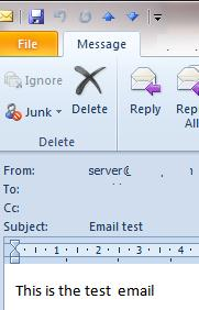 test email in outlook