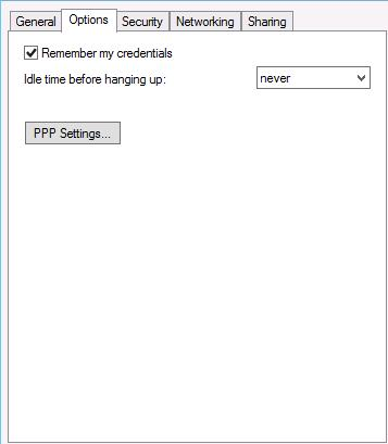 VPN option tab Windows 8 / Windows 2012