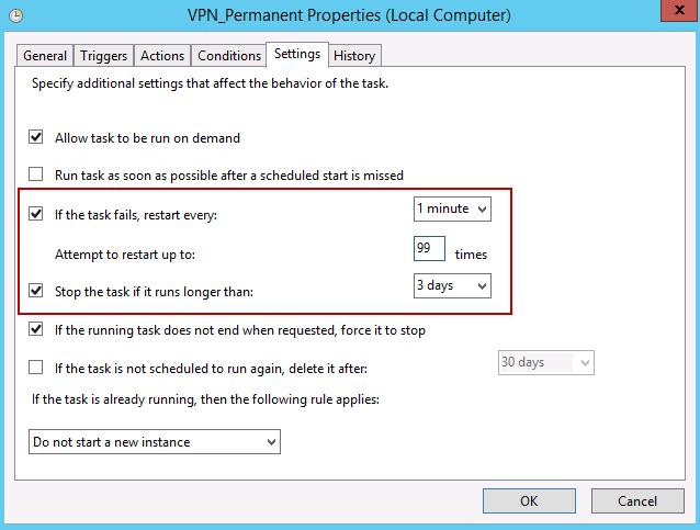 vpn task settings