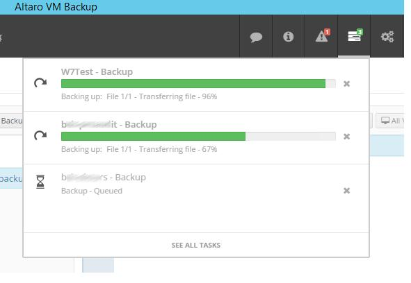vm backup progress
