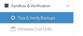 test and verify backups