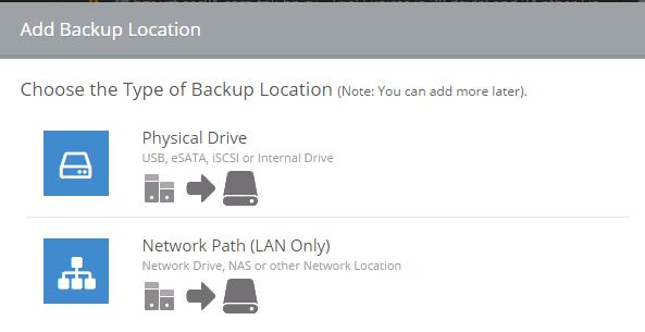 add backup location