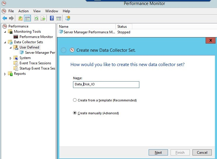 perfmon measure disk / storage performance windows
