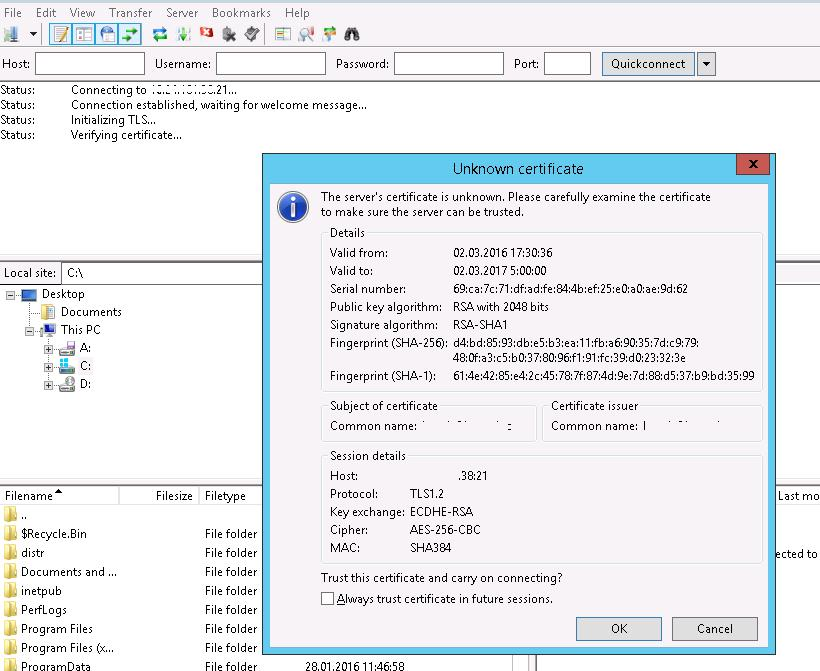 Ftp Over Ssl Ftps On Windows Server 2012 R2 Windows Os Hub
