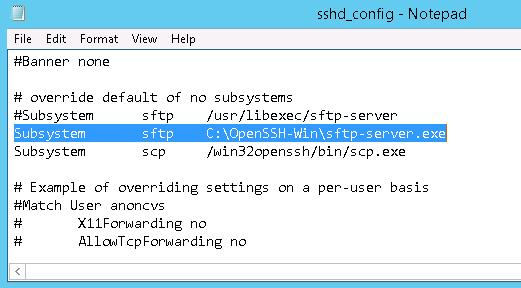 C:\OpenSSH-Win\sftp-server.exe