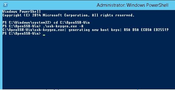 Installing SFTP (SSH FTP) Server on Windows Server 2012 R2