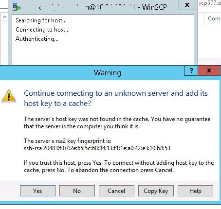 rsa2 key warning
