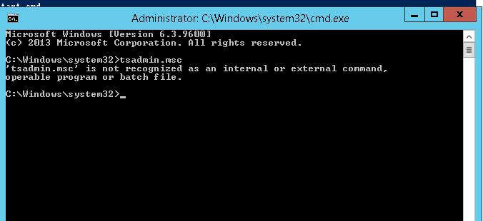 Get back tsadmin.msc on Windows 2012 r2 RDS