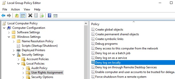 gpo: deny log on locally for local windows users