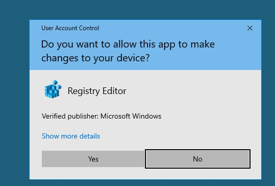 uac confirmation prompt on a secure desktop on windows 10