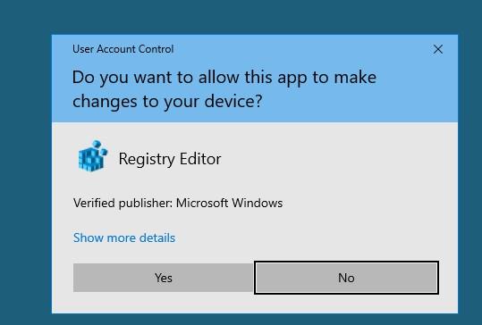 uac confirmation prompt on a secure desktop on windows 10