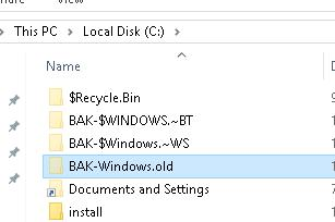 backup windows.old folder