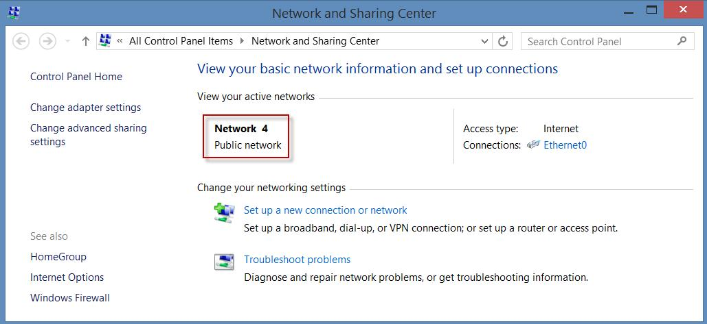 change public network to home network in windows 10