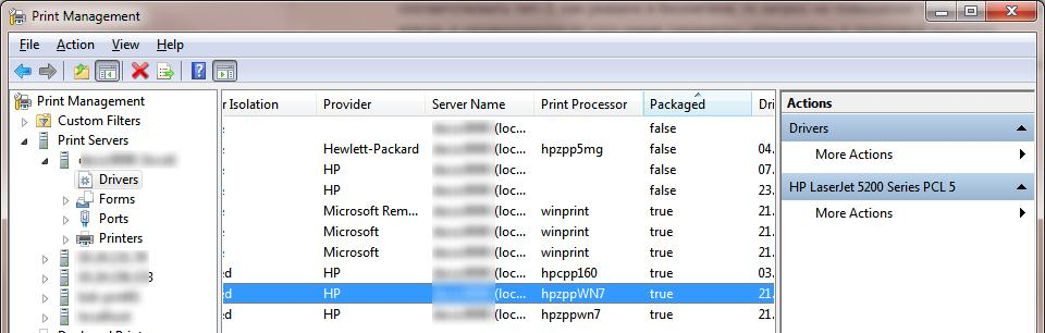 packaged printer driver