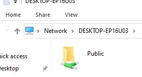 shared folder on windows 10