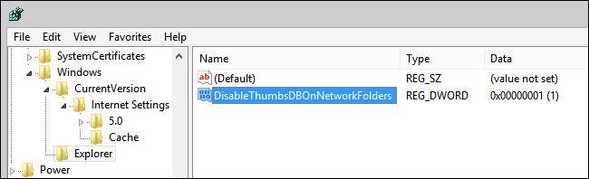 DisableThumbsDBOnNetworkFolders