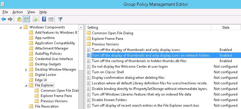 •Turn off the display of thumbnails and only display icons on network folders