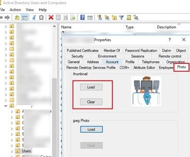 aduc add/upload user photo via additional aduc tab