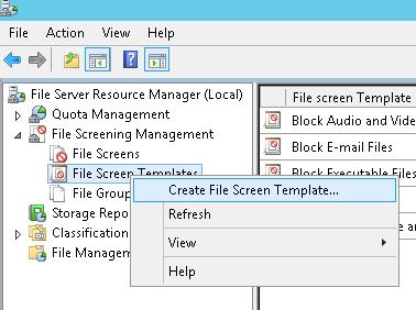 Create File Screen Template