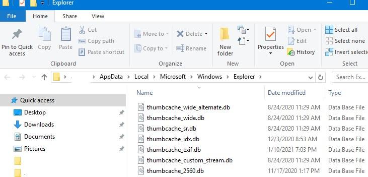 local thumbnail cache on window10 user profile thumbcache_xxxx.db