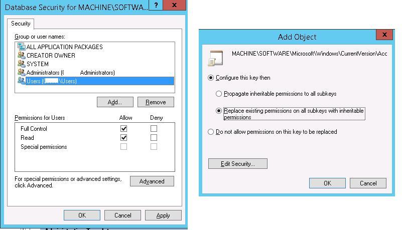 setting registry permissions via GPO
