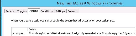 task to run powershell script