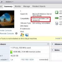 vmware vm hardware version