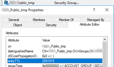 entryTTL in AD group properties (dynamicObject class)