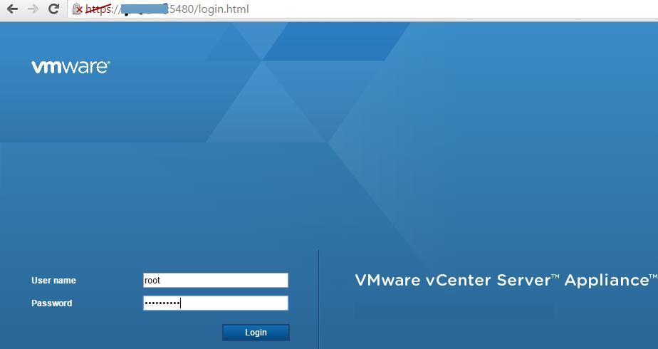 vcsa appliance-web interface