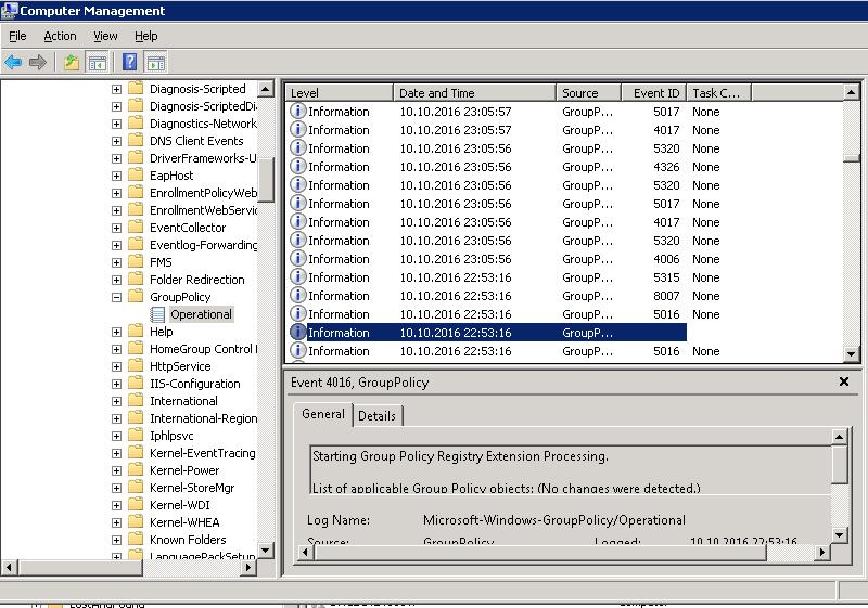 GPO Logging Using Gpsvc log in Windows 7 | Windows OS Hub