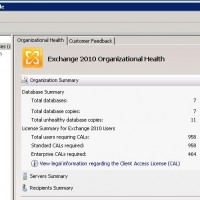 Exchange 2010 Management Console - CAL in use