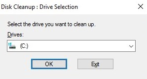 select drive to cleanup