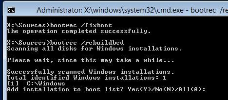 bootrec /fixboot
