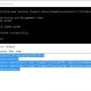 Dism.exe Export-DefaultAppAssociations to xml file