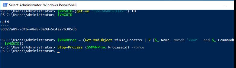 Killing Hung VM on Hyper-V using Powershell
