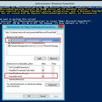 Set-PSSessionConfiguration-Name Microsoft.PowerShell-showSecurityDescriptorUI