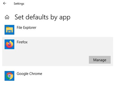 manage default app assotiations on windows
