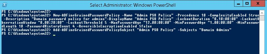Add-ADFineGrainedPasswordPolicySubject powershell