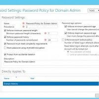 Fine Grained Password Policy for domain admins