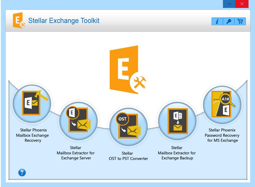stellar exchnage toolkit main window