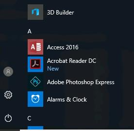 Installed Adobe Reader DC